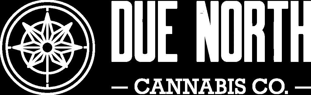 Due North Cannabis Logo White